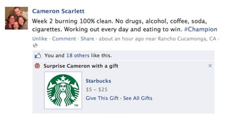 Facebook: Sabotaging Your Goals One Gift Card at a Time