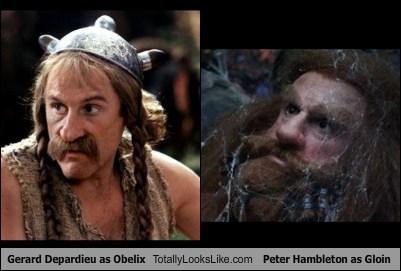 obelix,gloin,Gérard Depardieu,The Hobbit,totally looks like,funny