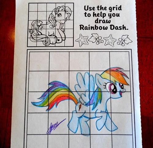 Disregard top, draw Rainbow Dash