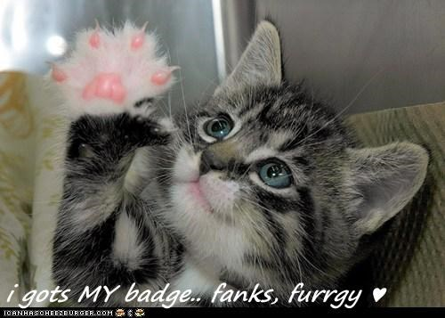 i gots MY badge.. fanks, furrgy ♥