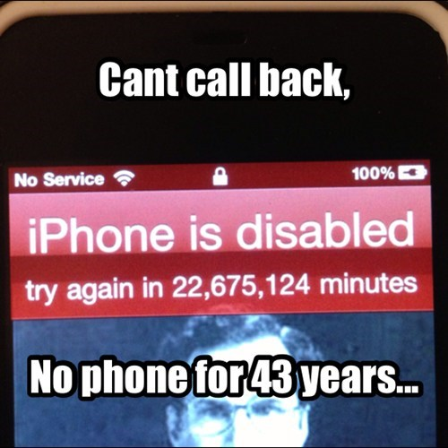 iPhones,iphone is disabled,funny