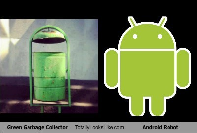 android logo,totally looks like,garbage can,funny