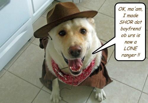 costume,break up,lone ranger,cowboy,funny