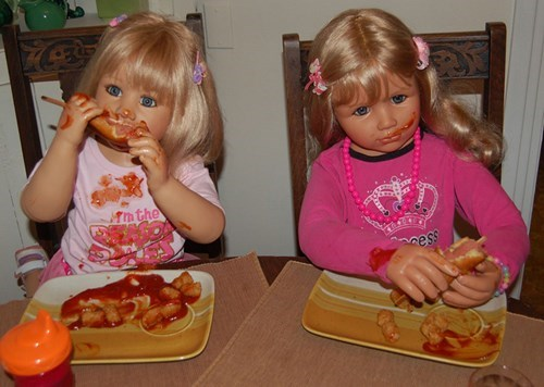 corn dogs,wtf,creepy,dolls,funny