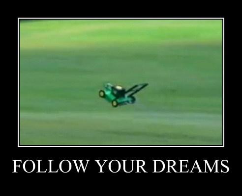lawn mower,dreams,funny