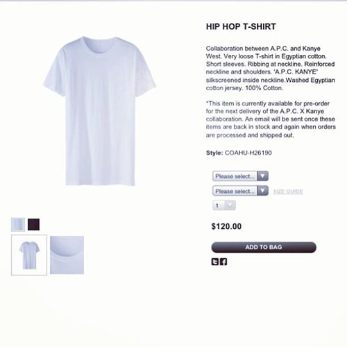 Kanye West Attempts to Sell a Plain White T-Shirt for $120 and the World Laughs at Him