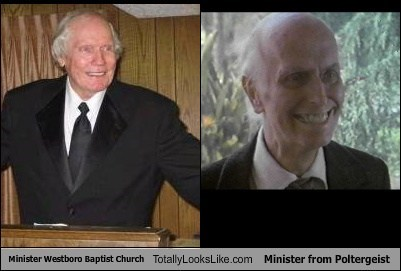 Minister of The Westboro Baptist Church Totally Looks Like Minister from Poltergeist
