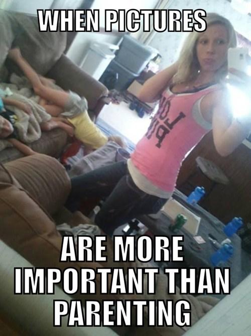 selfie,kids,parenting,choices,priorities,funny