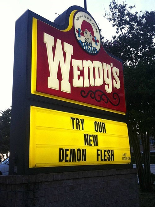 sign,wendys,funny,meat,fail nation