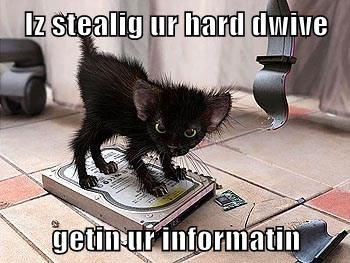 Iz stealig ur hard dwive  getin ur informatin