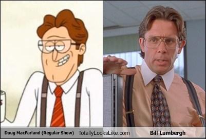 Doug MacFarland (Regular Show) Totally Looks Like Bill Lumbergh