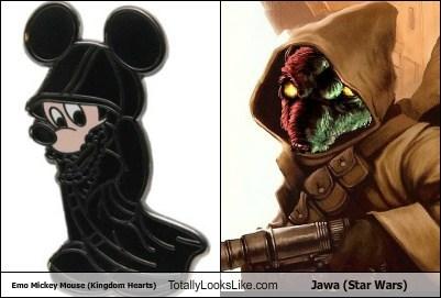 jawa,kingdom hearts,mickey mouse,emo,totally looks like,funny