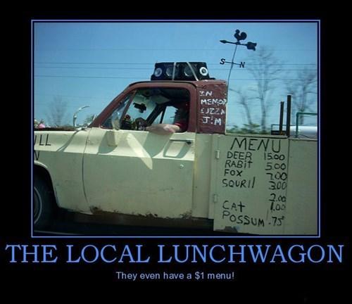 menu,lunchwagon,rednecks,funny