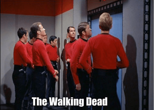 The Walking Dead,red shirt,Star Trek