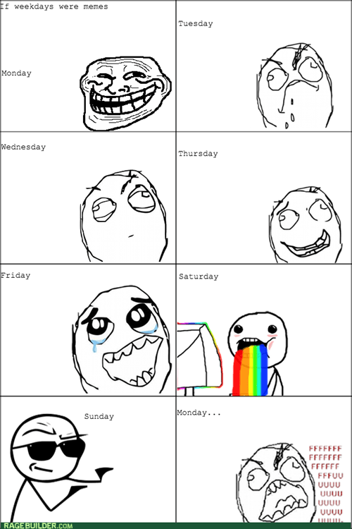 If weekdays were meme faces