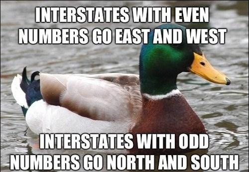 Actual Advice Mallard,driving,interstates
