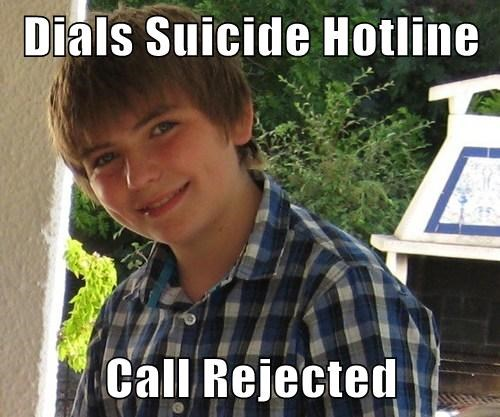 Dials Suicide Hotline  Call Rejected