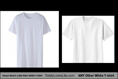 Kanye West's $120 Plain White T-Shirt Totally Looks Like ANY Other White T-shirt
