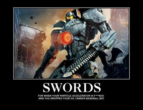 swords,pacific rim,funny