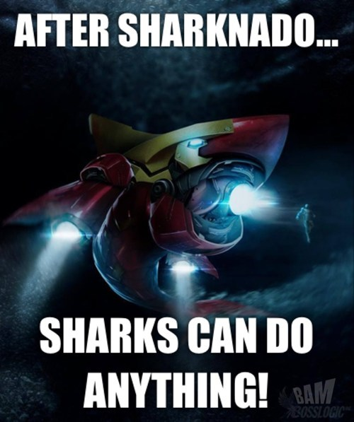 It'll be like Sharknado, but like, with Iron Man and stuff... How could this movie not rule?!