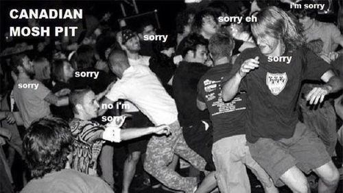 Polite Moshing, as Canadian as Maple Syrup