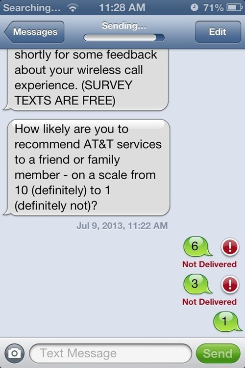 AT&T Ought to Fix Their Text Surveys...