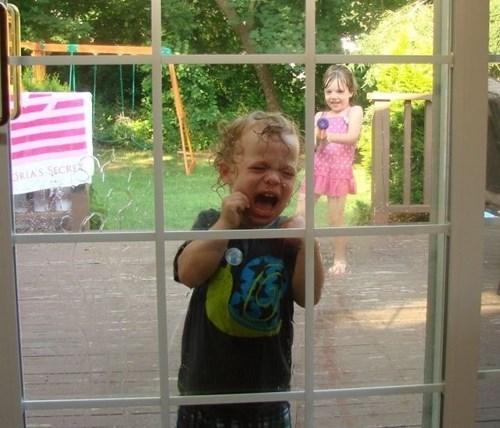 water guns,kids,siblings,payback,funny
