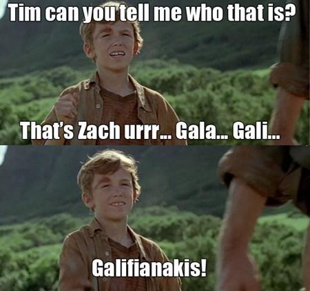 Zach Galifianakis,jurassic park,funny