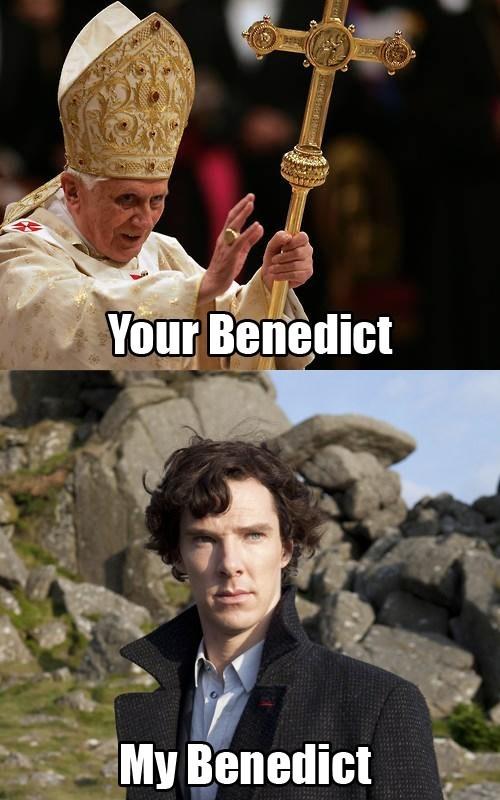 benedict cumberbatch,pope,Sherlock