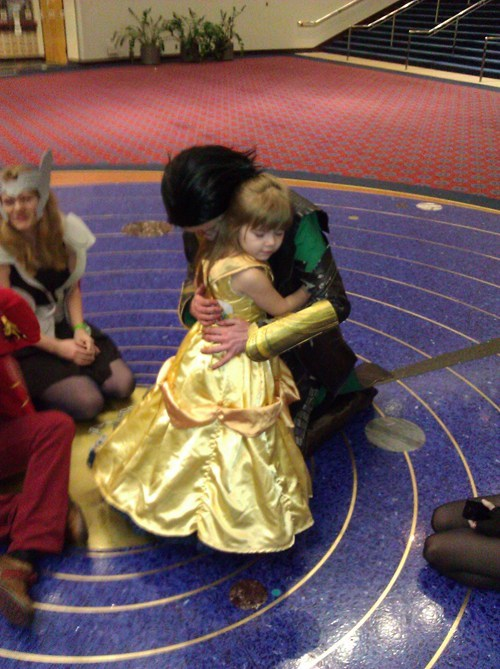 Loki was so won by her charms!