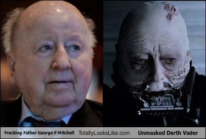 George P Mitchell Totally Looks Like Unmasked Darth Vader