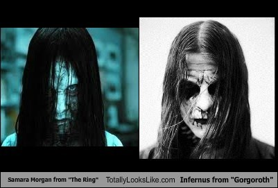 "Samara Morgan from ""The Ring"" Totally Looks Like Infernus from ""Gorgoroth"""