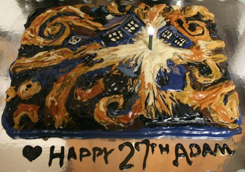 Exploding TARDIS birthday cake!