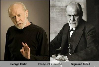 george carlin,totally looks like,Sigmund Freud,funny