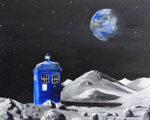 Fan Art,the moon,doctor who