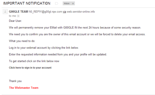 Totally Legit Email From Google