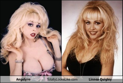 linnea quigley,totally looks like,babes,angelyne,funny