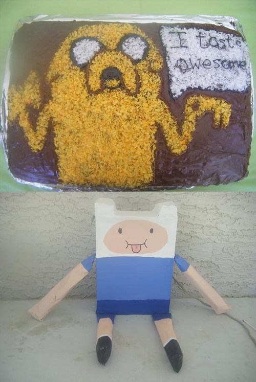 Jake the Cake and Finn the Piñata