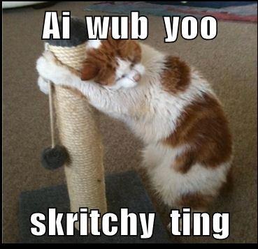 Ai  wub  yoo  skritchy  ting