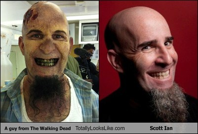 A Guy From The Walking Dead Totally Looks Like Scott Ian