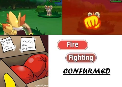 Fennekin Has Glow Punch! FIRE/FIGHTING CONFIRMED! EVERYONE FREAK OUT!