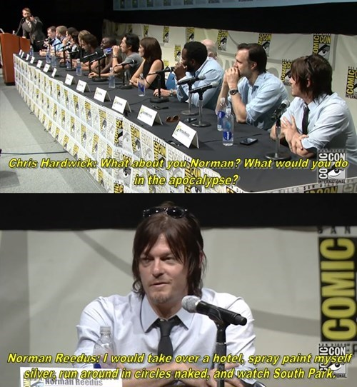 apocalypse,norman reedus,zombie,sdcc 2013,The Walking Dead