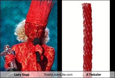 Lady Gaga Totally Looks Like A Twizzler