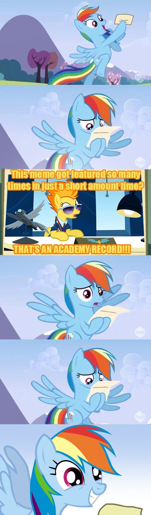 Rainbow Dash keeps receiving letters