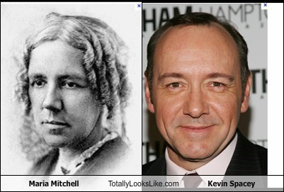 Maria Mitchell Totally Looks Like Kevin Spacey