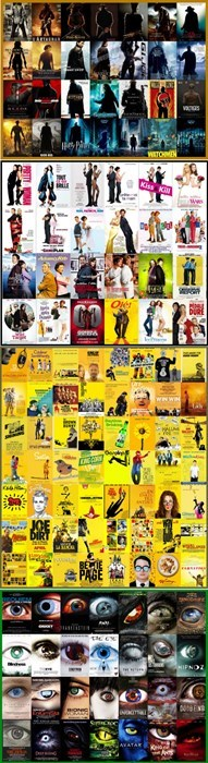 horror,romantic comedy,cliches,movies,action,movie posters