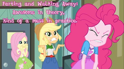 equestria girls,farts,pinkie pie