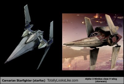 Cornarian Starfighter Totally Looks Like Alpha-3 Nimbus Class V-Wing