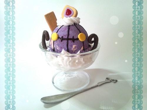 Pokémon,chandelure,ice cream,noms