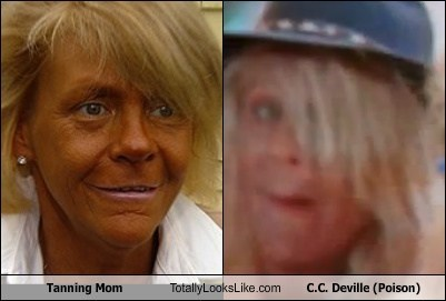Tanning Mom Totally Looks Like C.C. Deville (Poison)
